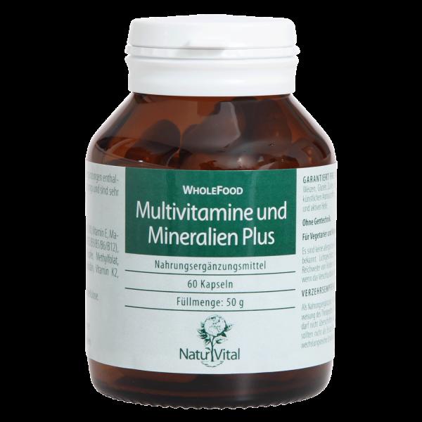Multivitamine und Mineralien Plus (Wholefood)
